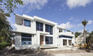 Golden Beach Miami Architecture Aerial Waterfront Luxury Contemporary front facade