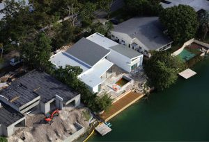 house from above in construction