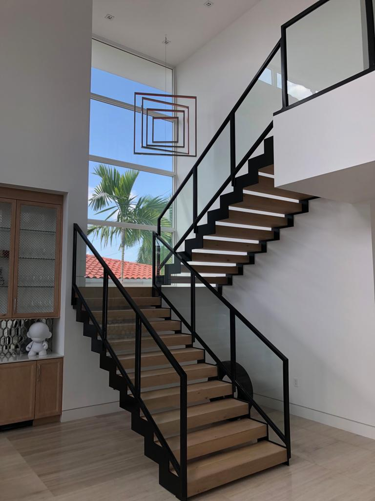 house miami staircase luxury modern design construction builder