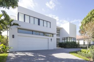 Bay Harbor Residence garage white contemporary builder modern high-end luxury architecture