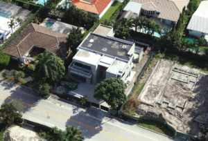 Bay Harbor Residence garage white contemporary builder modern high-end luxury architecture aerial