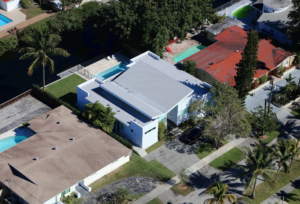Miami florida builder white house home construction contractor aerial photo