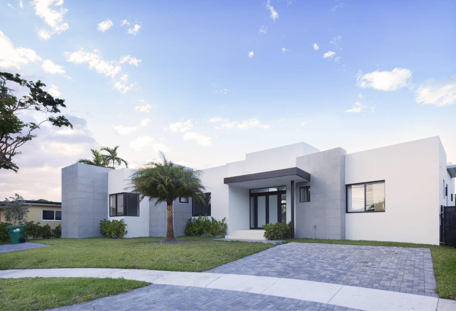 Miami Home Architecture Construction Residence Builder Contractor driveway landscape