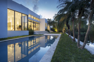 Miami Home Architecture Construction Residence Builder Contractor pool landscape steps coral stone water coping deck