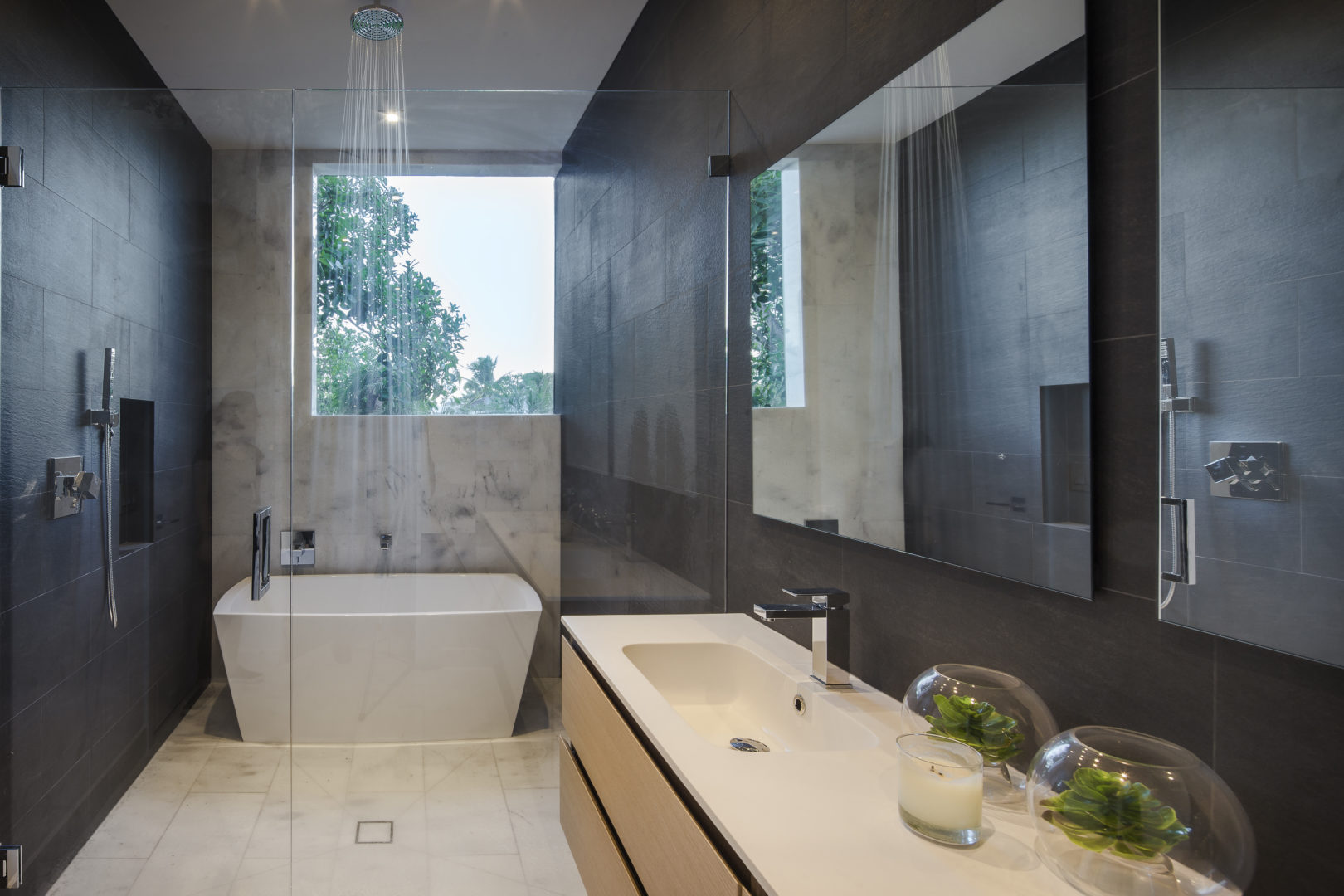 Miami Home Architecture Construction Residence Builder Contractor master bathroom modern new interior design