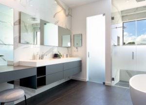 modern construction builder home residential bathroom design