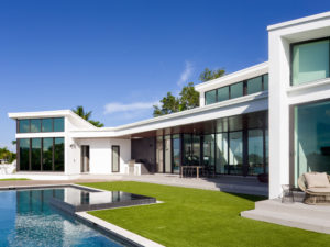 Luxury modern construction builder home residential pool landscape waterfront