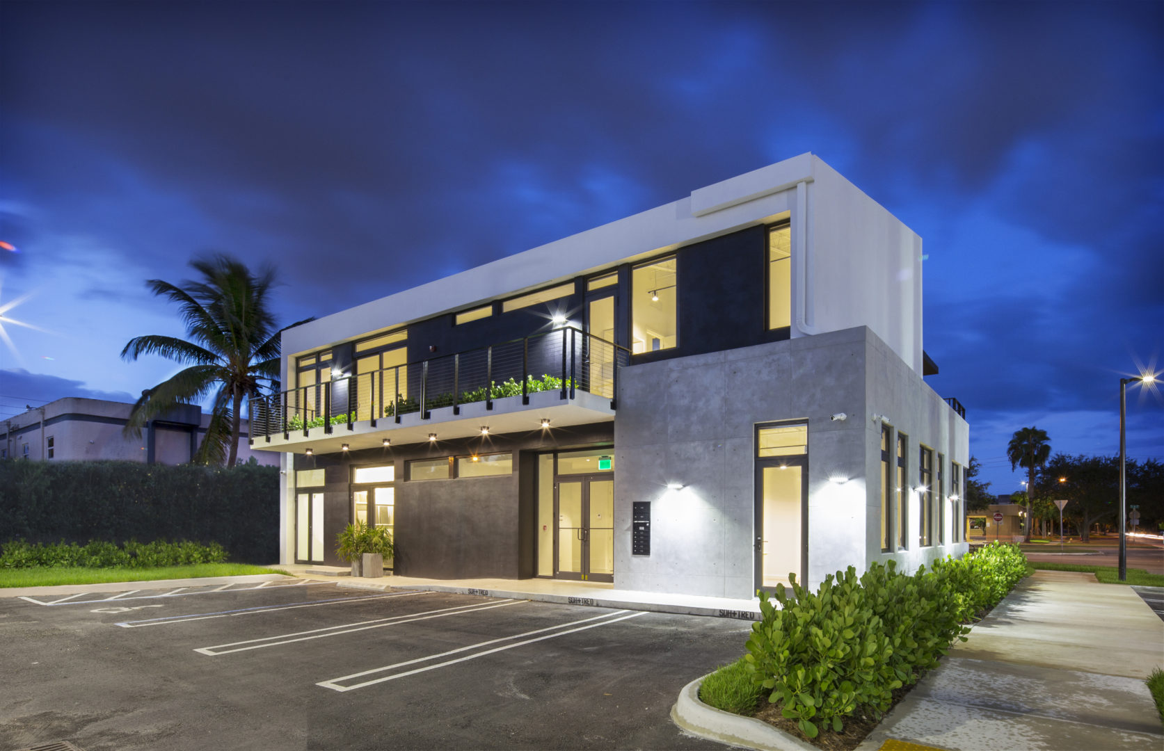 Office Building Commercial Treo SDH North Miami Beach Florida Construction modern parking asphalt concrete ramp