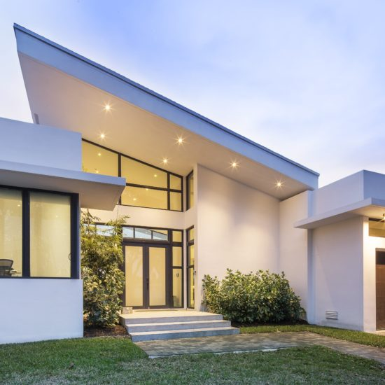 Skylake North Miami Beach Florida Construction Architecture Modern Front Facade Sloped Roof