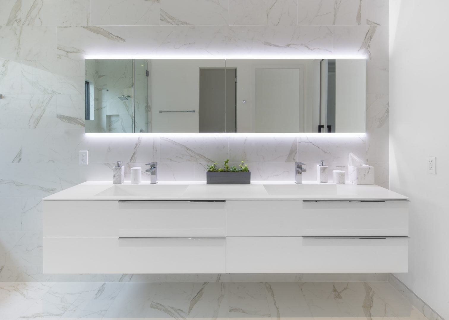 Skylake North Miami Beach Florida Construction Architecture Modern Outdoor master bathroom plumbing fixtures light mirror shower enclosure vanity window