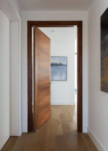 wood door miami house modern