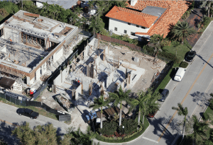 construction bay harbor house home builder aerial photo