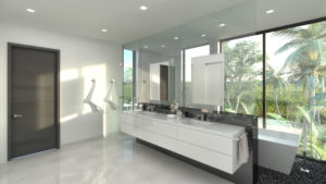 Bay Harbor Islands Miami Florida Builder High-end Custom Home render master bath