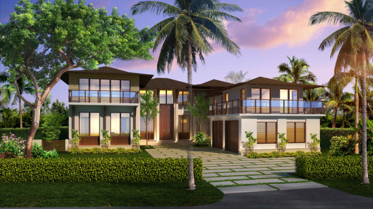 Bal Harbour luxury contemporary residence custom builder render architect