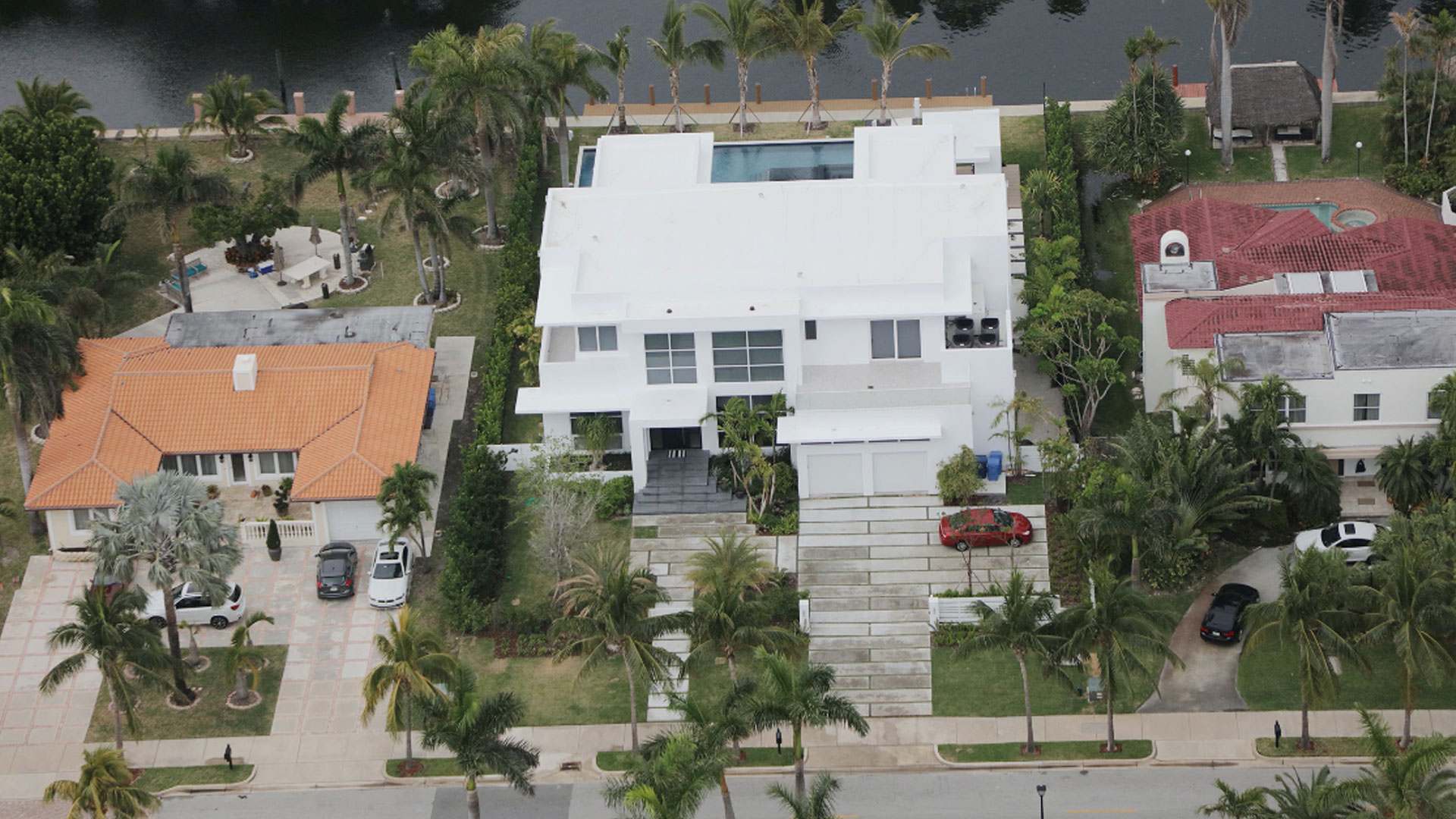 Golden Beach Miami Architecture Aerial Waterfront Luxury Contemporary